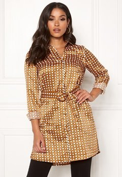 Happy Holly Athen woven shirt tunic Cinnamon / Patterned Bubbleroom.eu