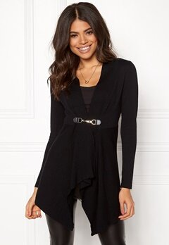 Happy Holly Beatrice long cardigan Black Bubbleroom.eu
