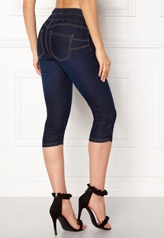 Happy Holly Becky capri jeggings Dark denim Bubbleroom.eu