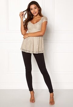 Happy Holly Benita lace top Light mole Bubbleroom.eu