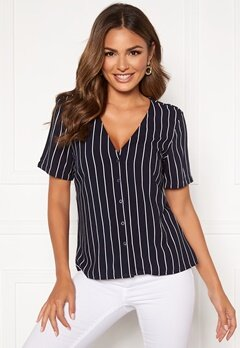 Happy Holly Blake blouse Dark blue / Striped Bubbleroom.eu