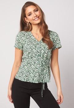 Happy Holly Blake blouse Khaki green / Patterned Bubbleroom.eu
