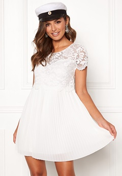 Happy Holly Blanche dress White Bubbleroom.eu