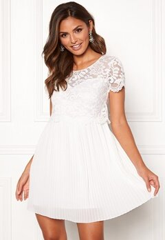 Happy Holly Blanche dress White Bubbleroom.eu