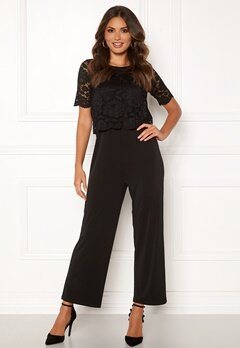 Happy Holly Blanche occasion jumpsuit  Black Bubbleroom.eu