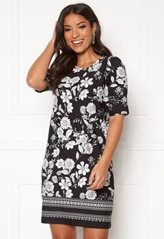 Happy Holly Blenda dress Black / Patterned Bubbleroom.eu
