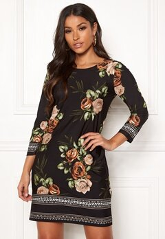 Happy Holly Blenda dress Brown / Floral Bubbleroom.eu