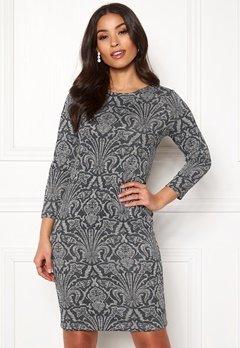 Happy Holly Blenda lurex dress Grey melange / Silver Bubbleroom.eu