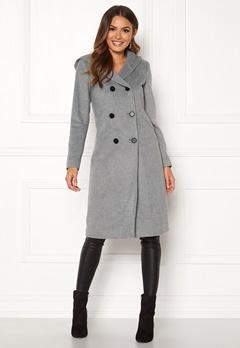 Happy Holly Brielle Hoody coat Grey melange Bubbleroom.eu