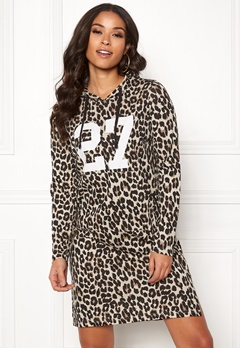 Happy Holly Camila tricot hood Leopard Bubbleroom.eu