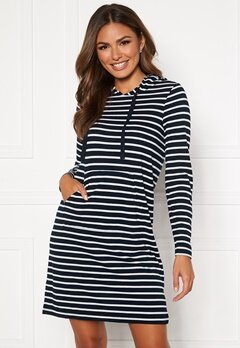 Happy Holly Camila striped tricot hood Dark blue / Striped Bubbleroom.eu