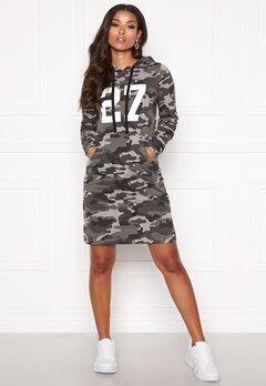 Happy Holly Camila tricot hood Grey melange / Camouflage Bubbleroom.eu