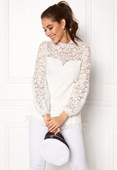 Happy Holly Caroline lace top Offwhite Bubbleroom.eu