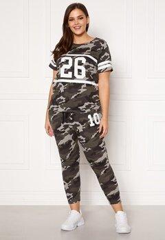 Happy Holly Carolyn tricot pants Grey melange / Camouflage Bubbleroom.eu