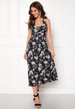 Happy Holly Cathrine halter dress Black / Offwhite Bubbleroom.eu