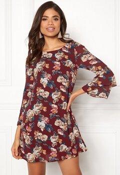 Happy Holly Charlene dress Wine-red / Patterned Bubbleroom.eu