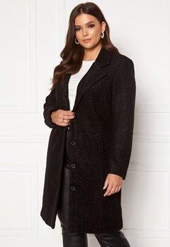 Happy Holly Corinne wool coat Black Bubbleroom.eu