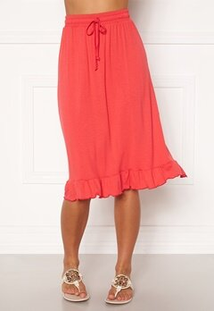 Happy Holly Desiree frill skirt Red Bubbleroom.eu