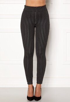 Happy Holly Ditte pin-stripe leggings Black / Striped Bubbleroom.eu