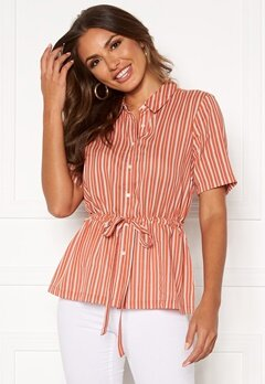 Happy Holly Ebba shirt blouse Coral / Striped Bubbleroom.eu