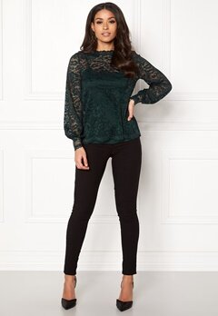 Happy Holly Edda lace top Dark green Bubbleroom.eu