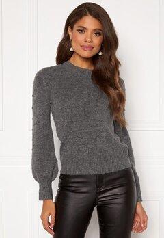 Happy Holly Edith knitted sweater Dark grey / Melange Bubbleroom.eu