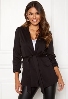 Happy Holly Eleanor tricot blazer Black Bubbleroom.eu