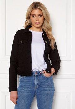 Happy Holly Elina denim jacket Black Bubbleroom.eu