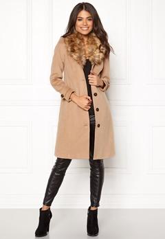 Happy Holly Elisa coat Camel Bubbleroom.eu