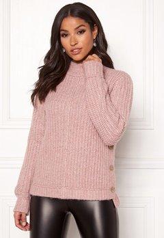 Happy Holly Eliza button sweater Powder pink Bubbleroom.eu