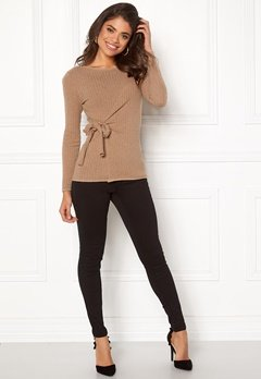 Happy Holly Elizabella sweater Beige melange Bubbleroom.eu