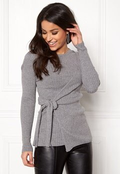 Happy Holly Elizabella sweater Dark grey melange Bubbleroom.eu