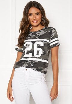 Happy Holly Ellen tee Grey melange / Camouflage Bubbleroom.eu