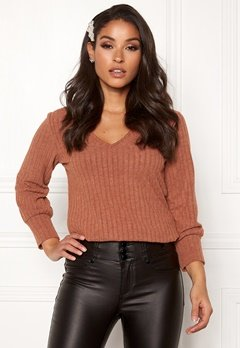 Happy Holly Elly puff sleeve top Cinnamon Bubbleroom.eu