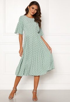 Happy Holly Eloise pleated dress Light mint / Dotted Bubbleroom.eu