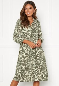 Happy Holly Elsie midi dress Khaki green / Patterned Bubbleroom.eu
