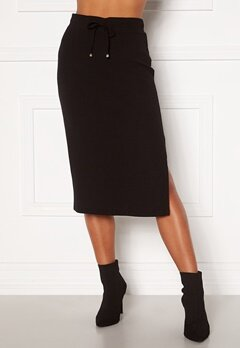 Happy Holly Emilia midi skirt Black Bubbleroom.eu