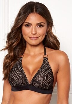 Happy Holly Emma lace bikini bra Black / Beige Bubbleroom.eu