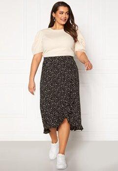 Happy Holly Emma skirt Black / Offwhite Bubbleroom.eu