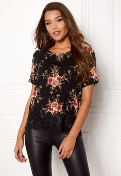 Happy Holly Evelina woven top Black / Patterned Bubbleroom.eu