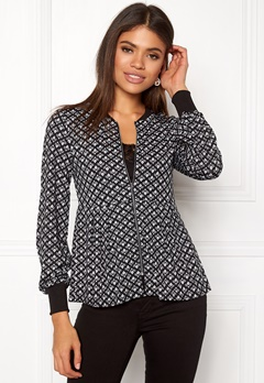 Happy Holly Fannie jacket Black / Offwhite Bubbleroom.eu
