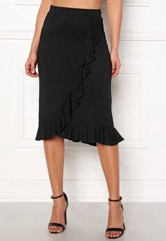 Happy Holly Farah midi skirt Black Bubbleroom.eu