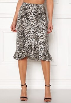 Happy Holly Farah midi skirt Leopard Bubbleroom.eu