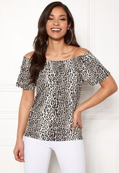 Happy Holly Farah top Leopard Bubbleroom.eu