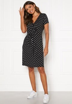 Happy Holly Fiona dress Black / Dotted Bubbleroom.eu