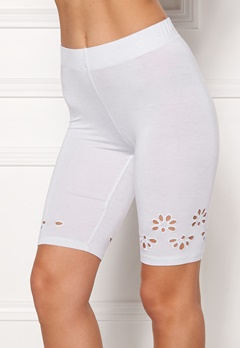 Happy Holly Flora Bike pants White Bubbleroom.eu