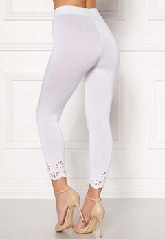 Happy Holly Flora Crop leggings White Bubbleroom.eu