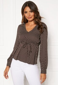 Happy Holly Frida blouse Brown / Dotted Bubbleroom.eu
