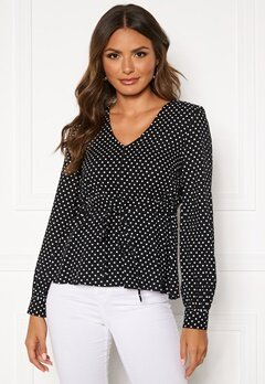 Happy Holly Frida blouse Black / Dotted Bubbleroom.eu