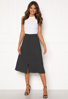 Happy Holly Frida button skirt Black / Dotted Bubbleroom.eu